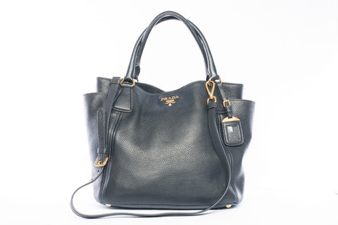 Prada Side Pocket Vitello Danio Tote