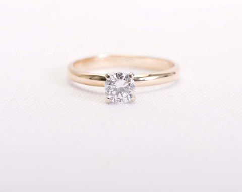 1.00CT Solitaire Diamond 14k Yellow gold Engagement Ring