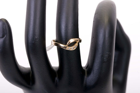 14K Rose Gold Ring with 3 Diamonds at Posh Pawn
