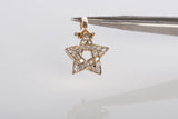 14k Yellow Gold Cubic Zirconia Star Pendant