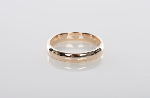 Mens 14K Yellow Gold 4mm Polished Band / Ring