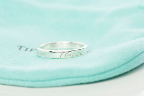 "Tiffany & Co. .925 Sterling Silver ""I Love You"" Ring"