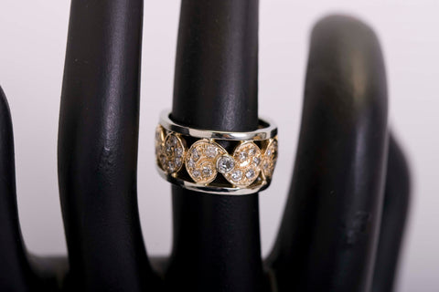 14k Two-Toned Diamond Ring