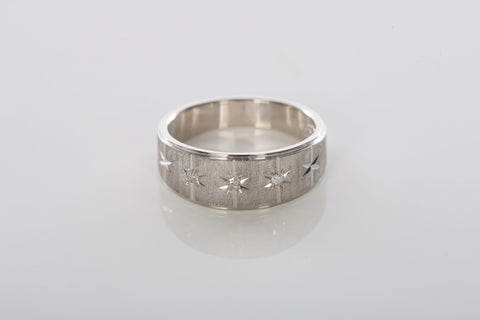 14K White Gold & Diamond Band / Ring