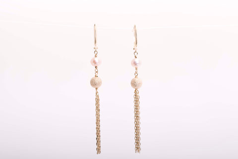 14k Yellow Gold Dangle Earrings