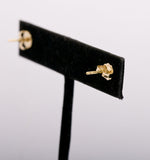 18k Yellow Gold and Diamond earrings with Butterfly backings