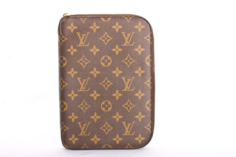 Auth Louis Vuitton RARE Vintage Zip Around Agenda Cover with COA