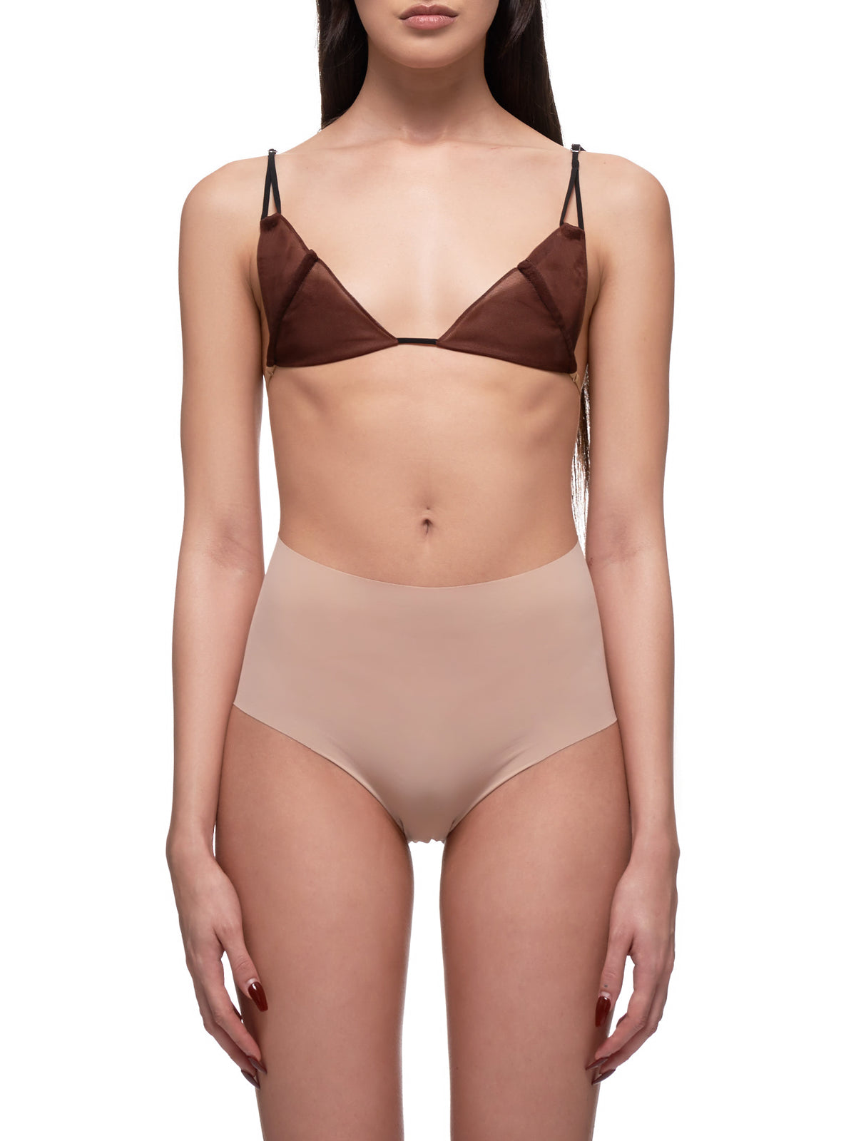 Deconstructed Bralette (0006-BLACK-BROWN)