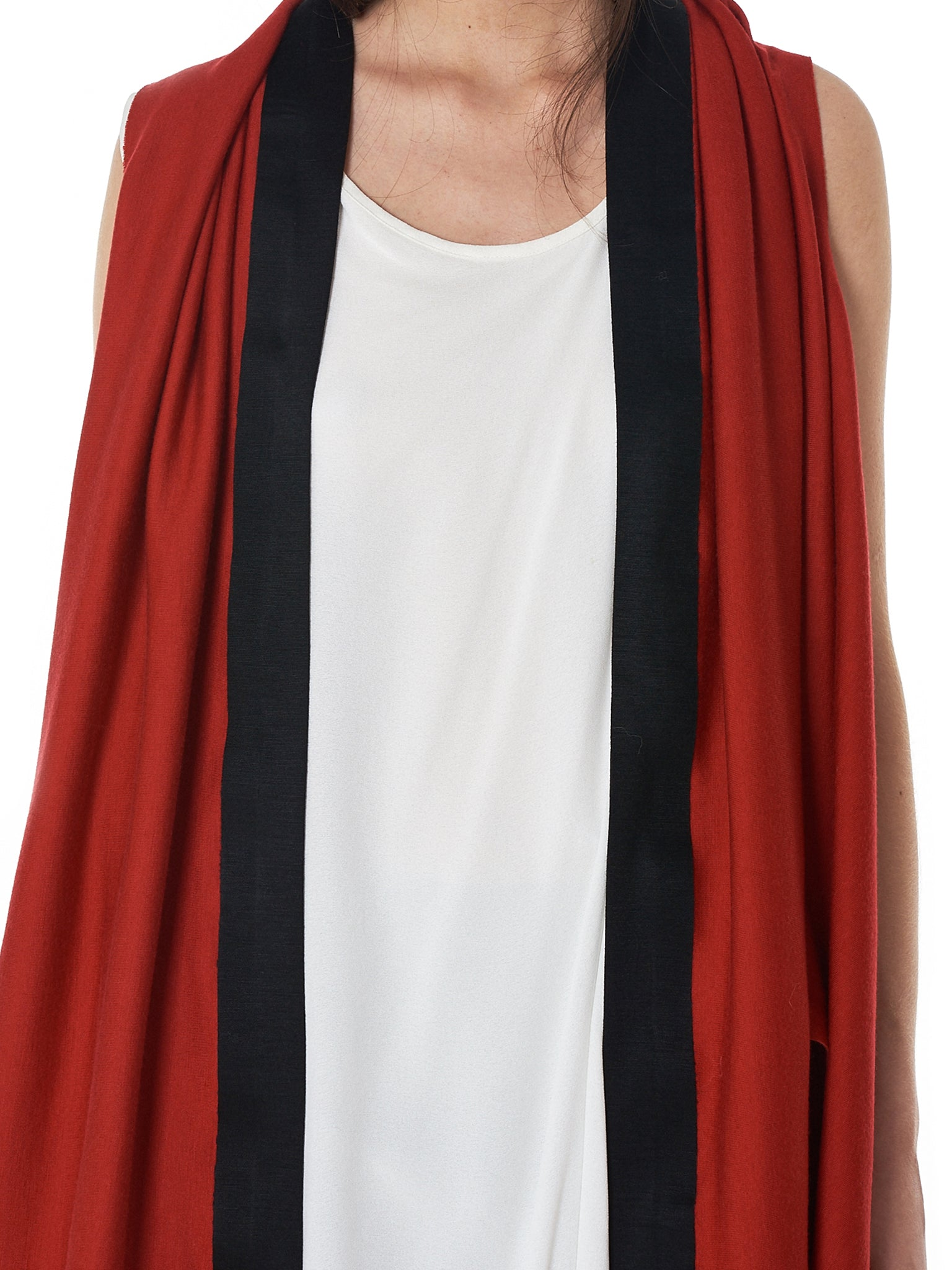 Geometric Knit Vest (00060-RECT-BASED-RED-BLK)