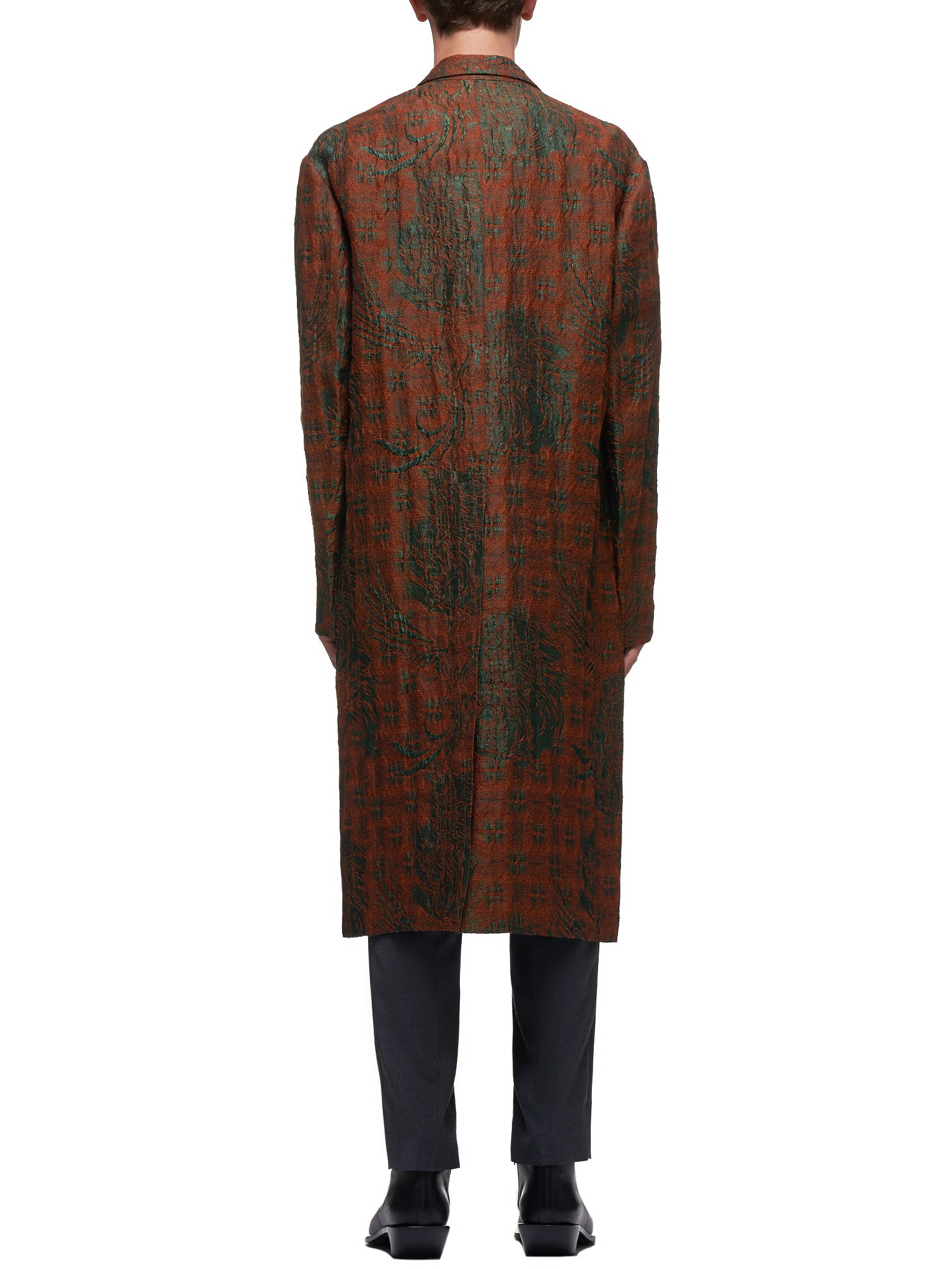 Embroidered Long Coat (001-12-RUST-RED)