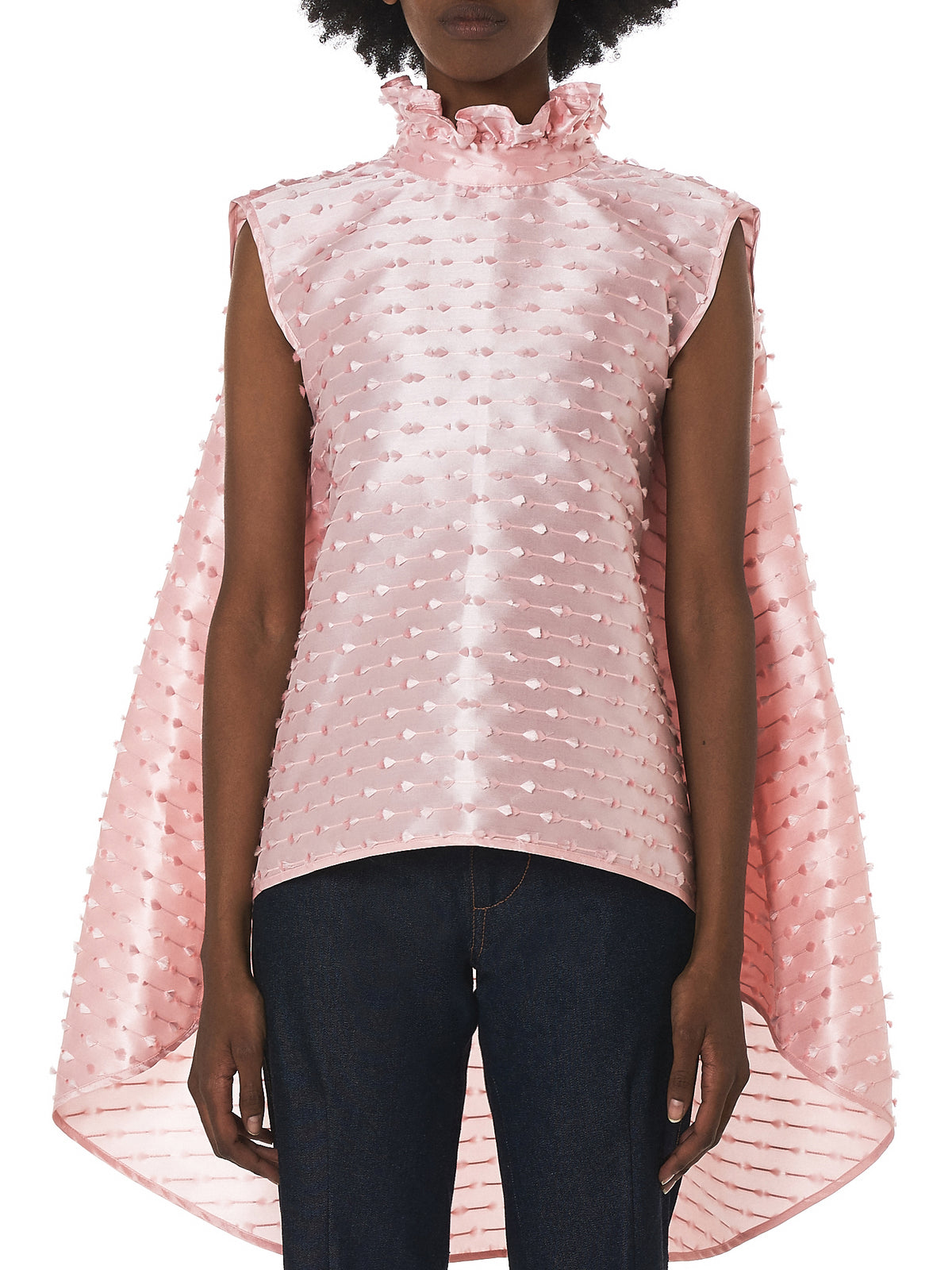 Cecilie Bahnsen Silk Top - Hlorenzo Front