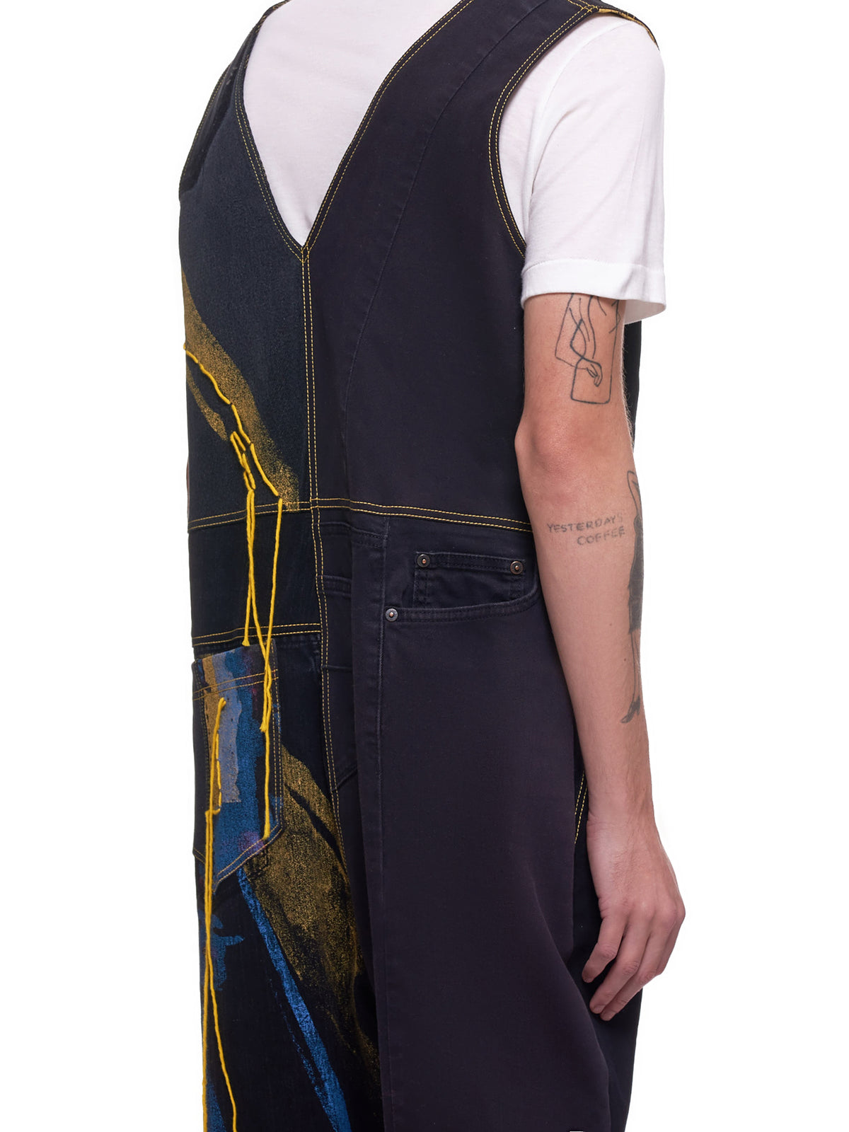 Recycled Denim Jumpsuit (003-BLACK-MULTI)