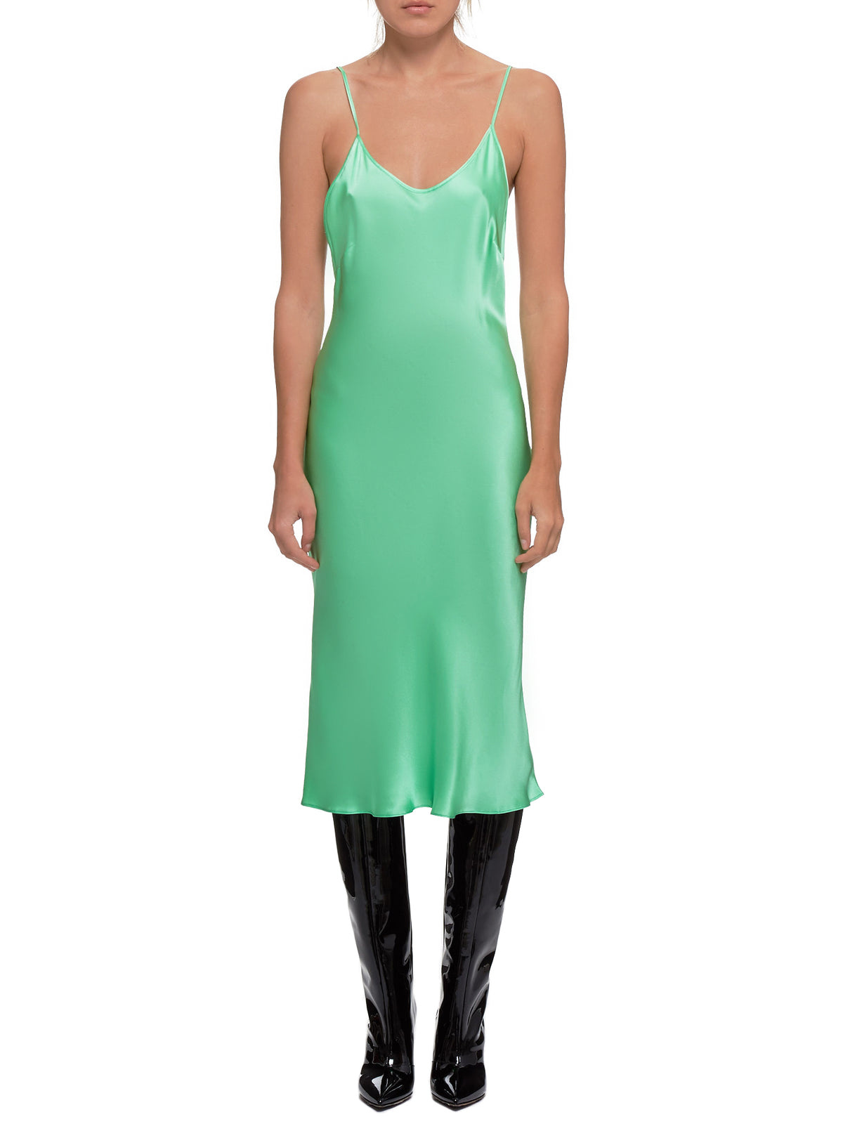 Satin Dress (#003054-#005-MINT)