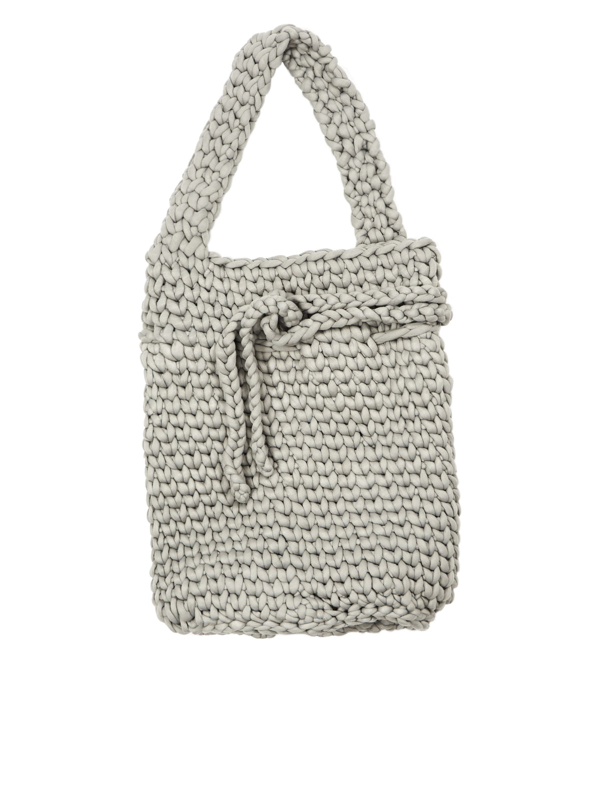 Oversized Knitted Bag (005-18-GREY)