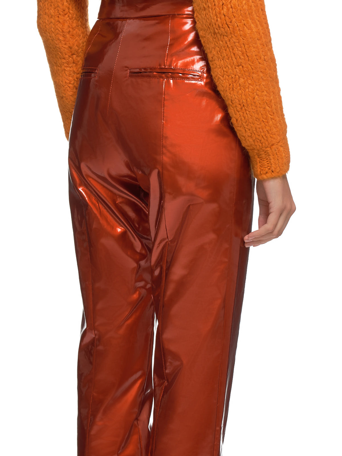 Glossy Trousers (#005022-#010-CRIMSON)