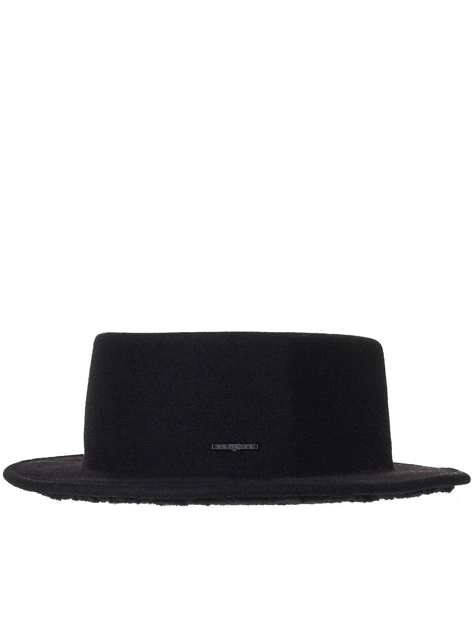 Flat Crown Hat (006-BLACK)