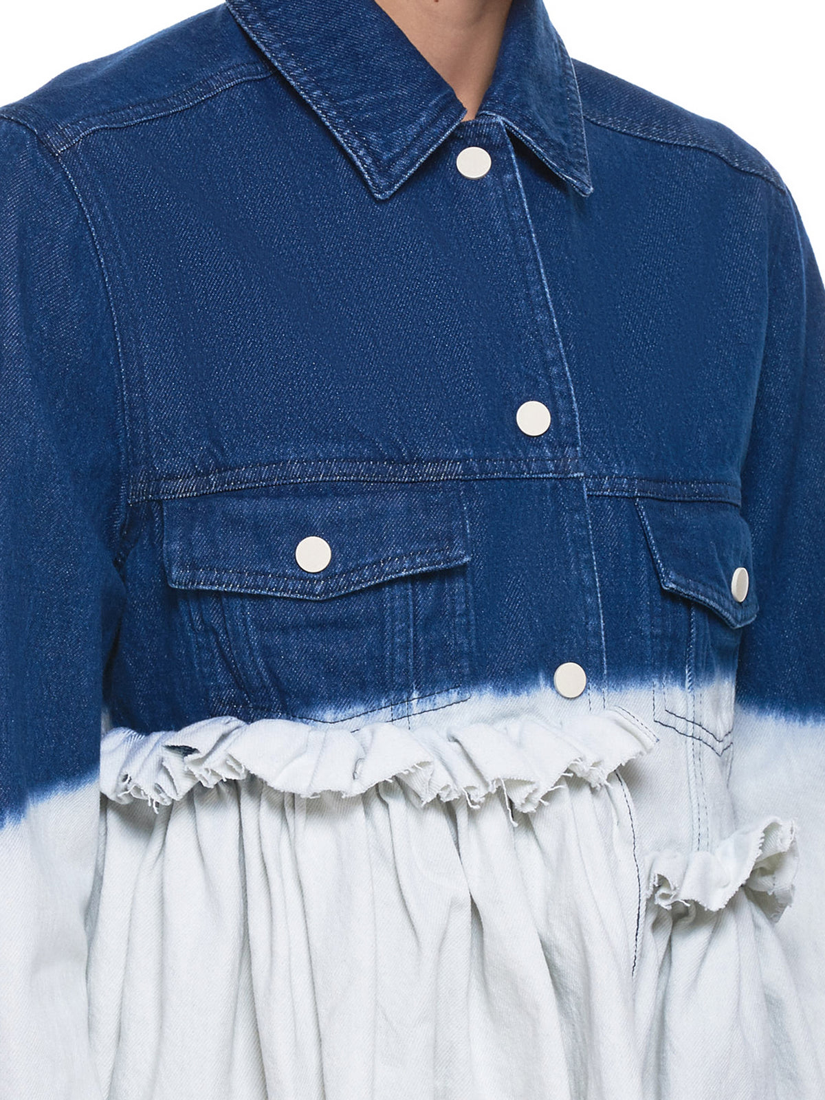 Acid Wash Jacket (006-BLUE-WHITE-DENIM)