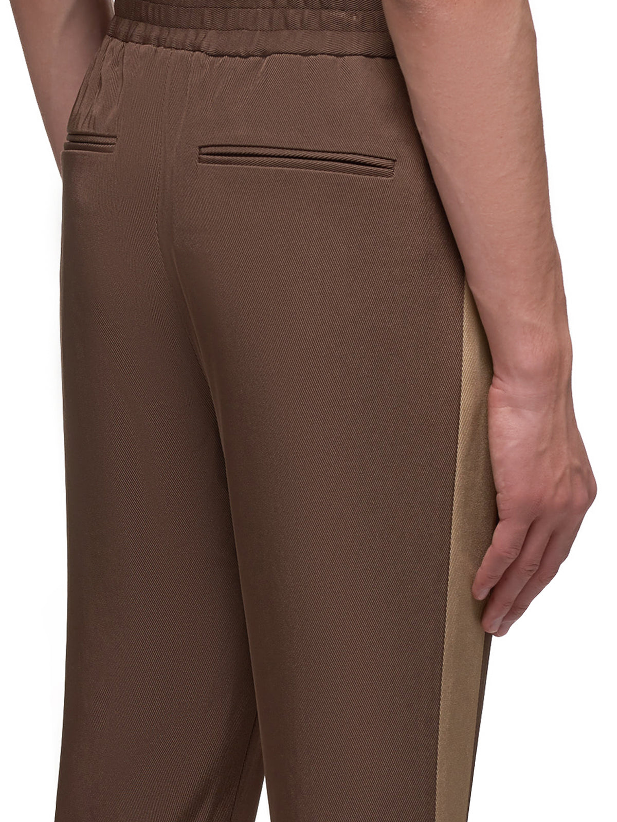 Side Stripe Hybrid Trousers (007-22-DARK-BROWN)