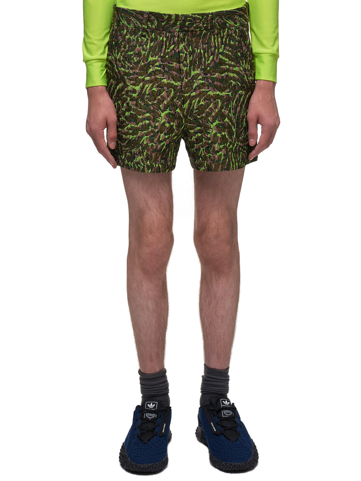 Peacock Shorts (007-35-RECYCLED-GREEN)