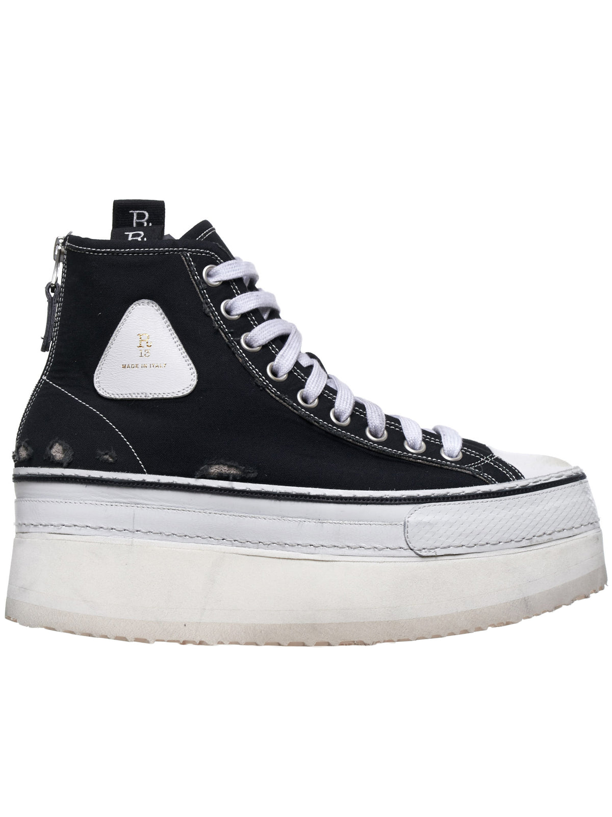 Platform High Top Sneakers (0070-150-BLACK)