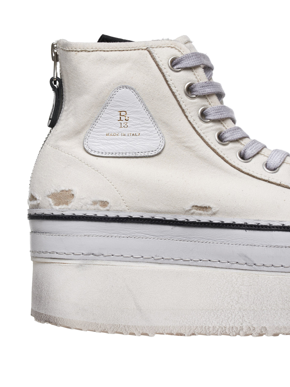 Platform High Top Sneakers (0070-289-ECRU)