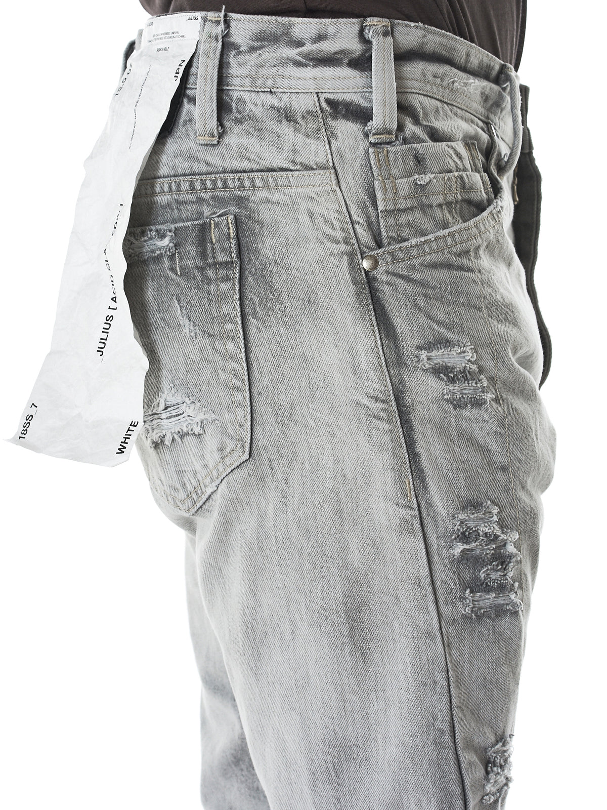 Distressed Tapered Jeans (007PAM52-BLUE)