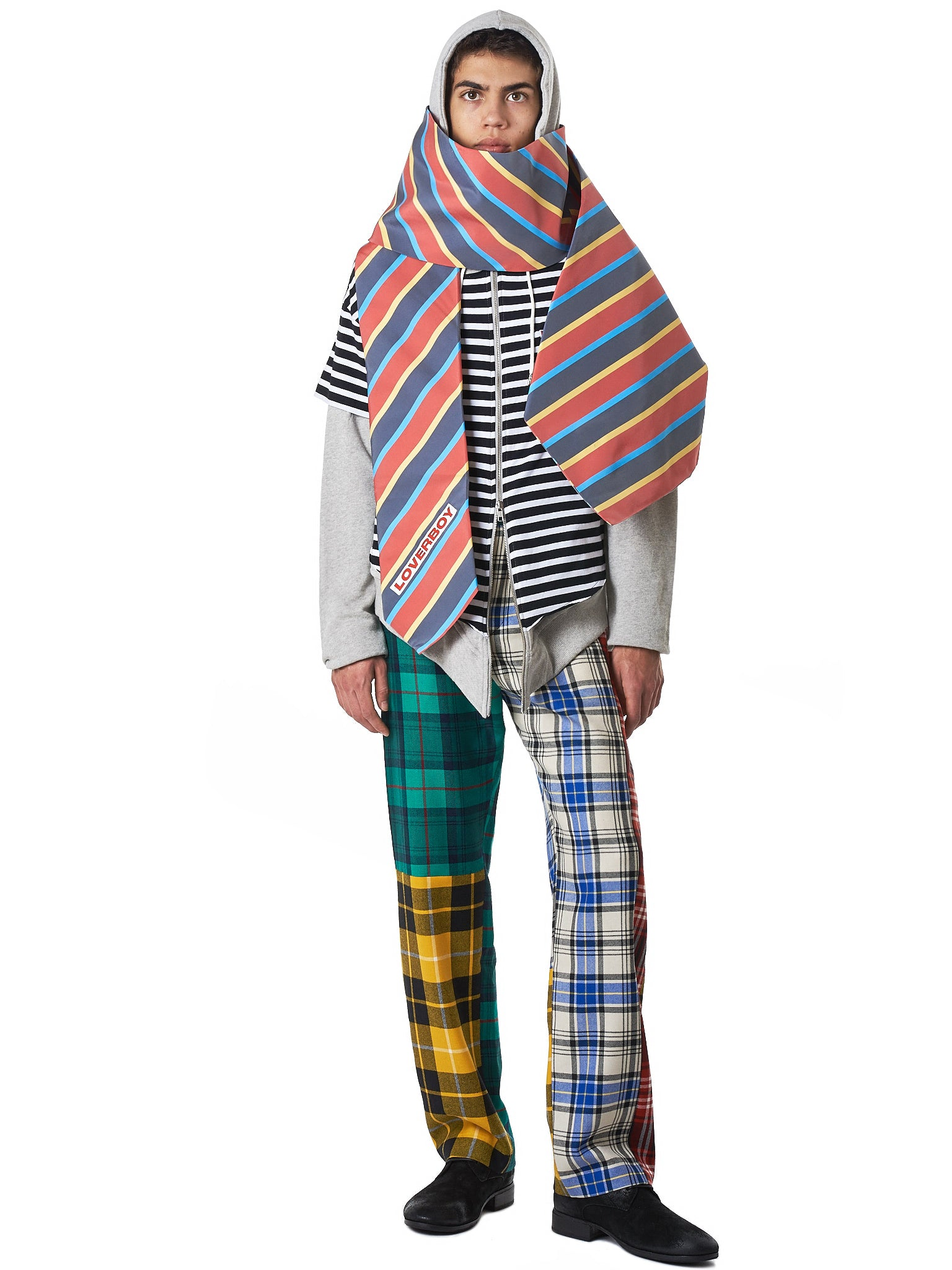 Charles Jeffrey Loverboy Striped Hoodie - Hlorenzo Style