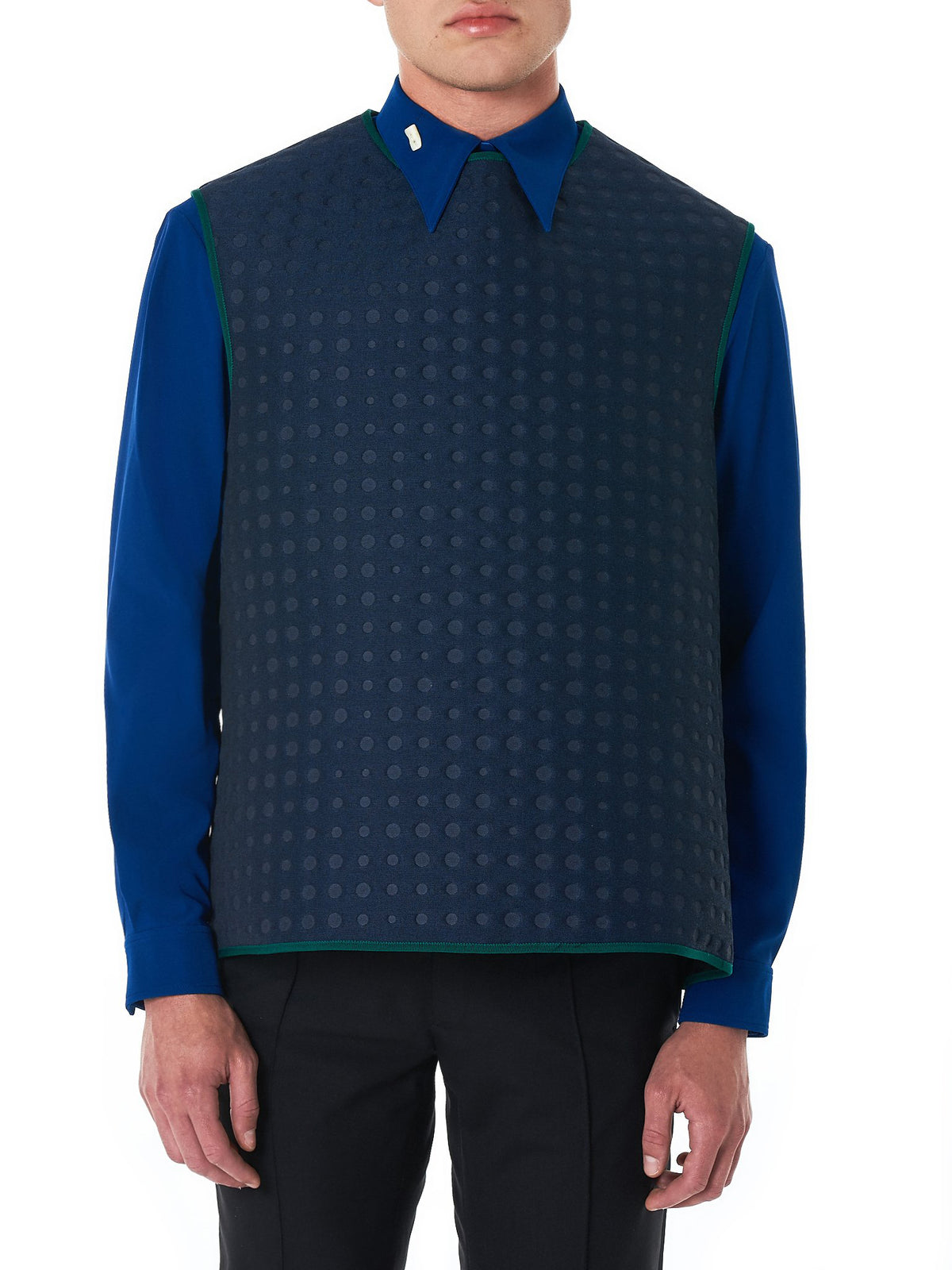 Dotted Throw Over Vest (0203NW18-BLUE)
