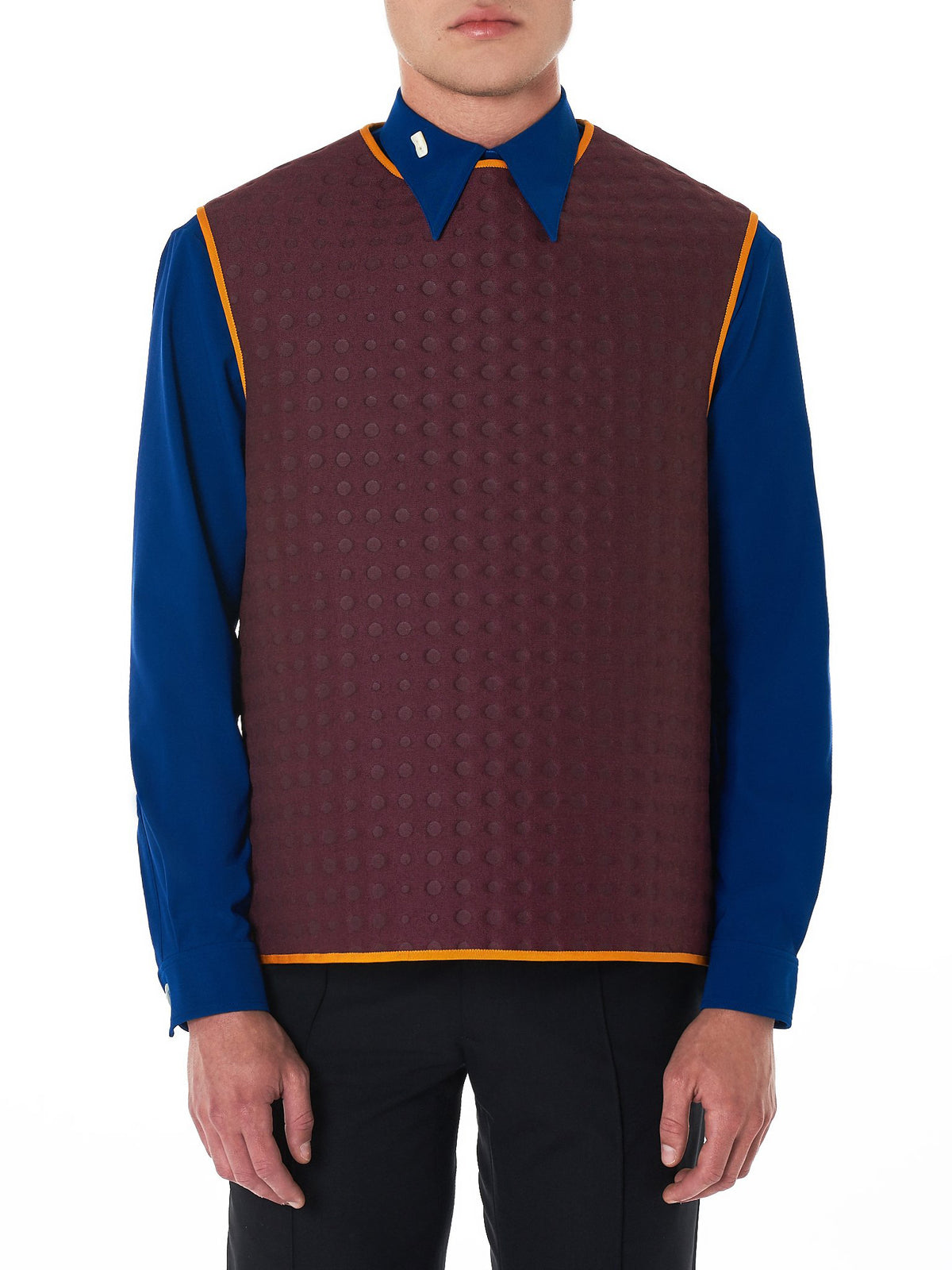 Dotted Throw Over Vest (0203NW18-BURGUNDY)