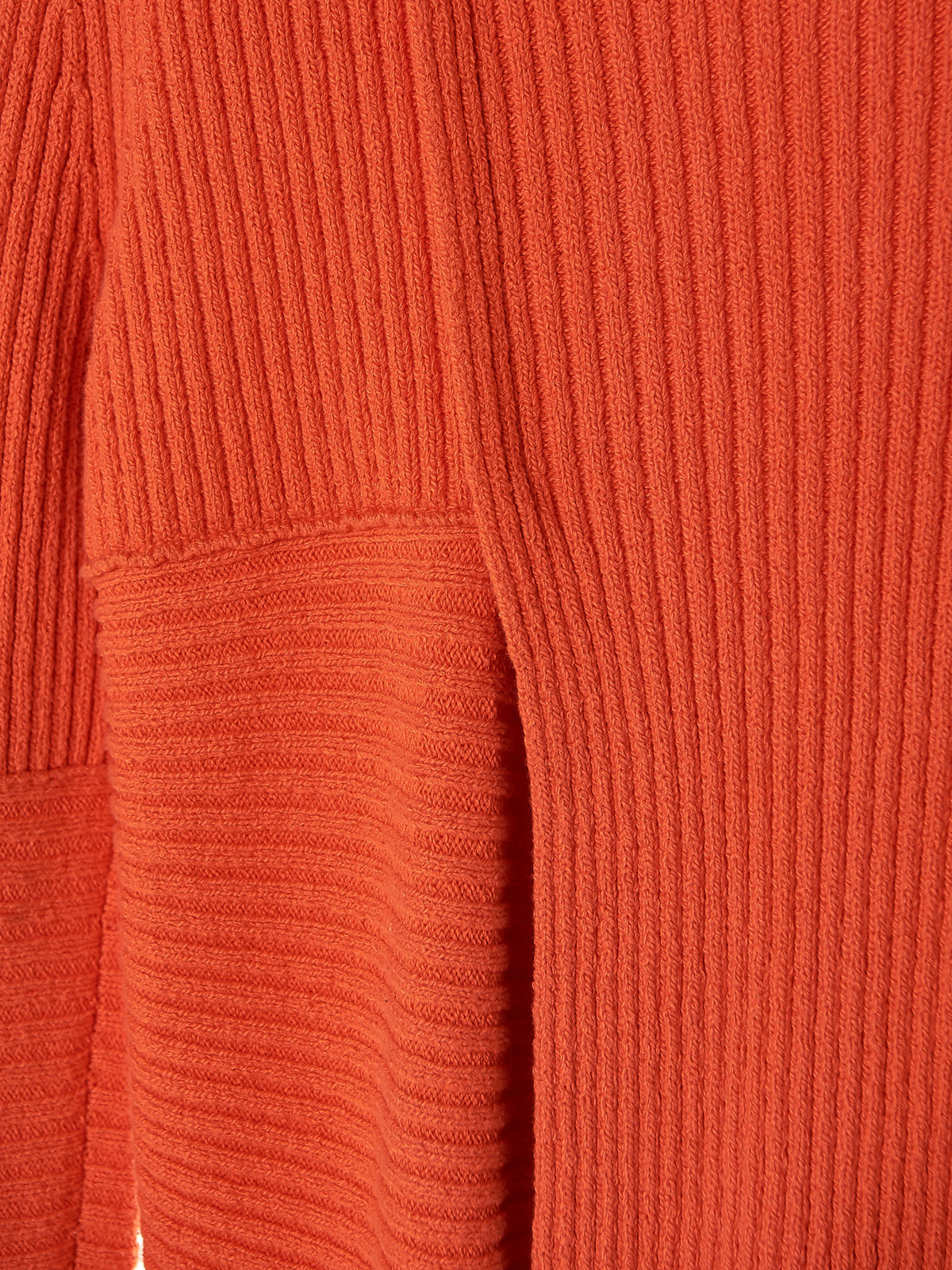 Scarved Turtleneck Sweater (RS0837-5039-ORANGE) - H. Lorenzo