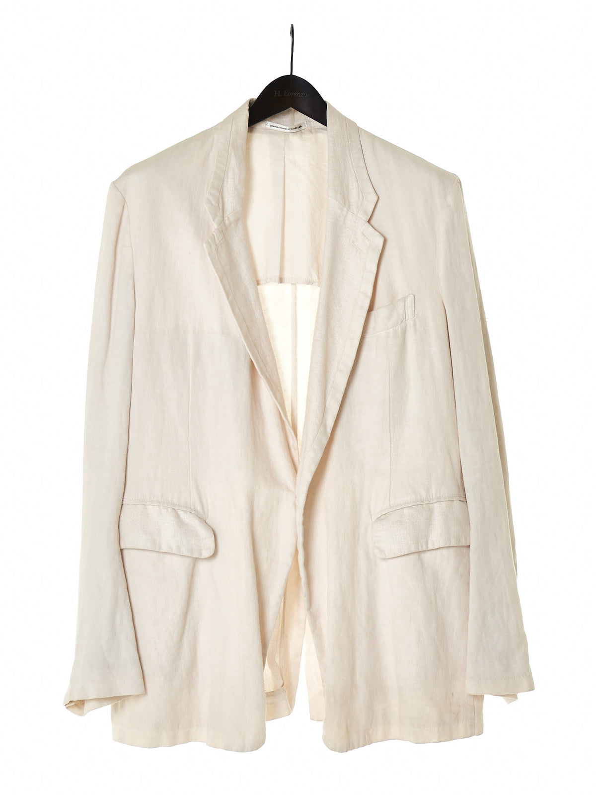 Single-Breasted Linen Blazer (MT-J97-399-1) - H. Lorenzo