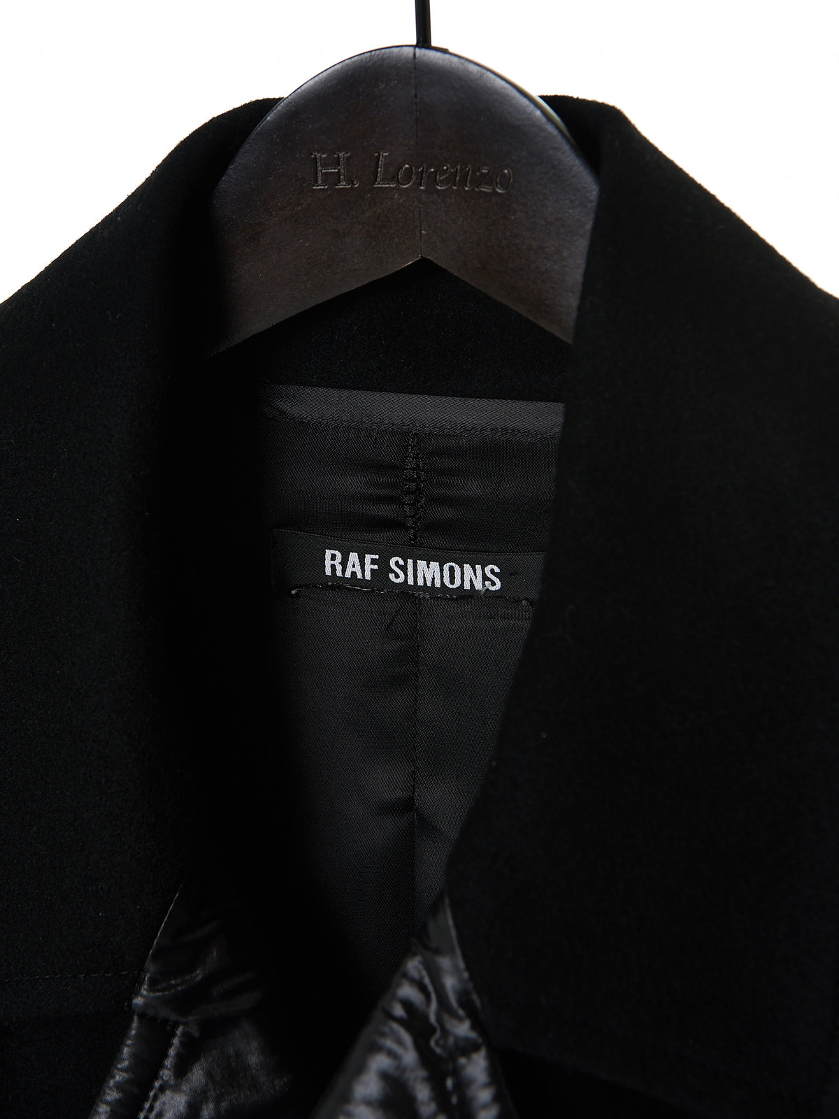 Raf Simons Nylon-Paneled Coat(0516-1248-BLACK) - H. Lorenzo