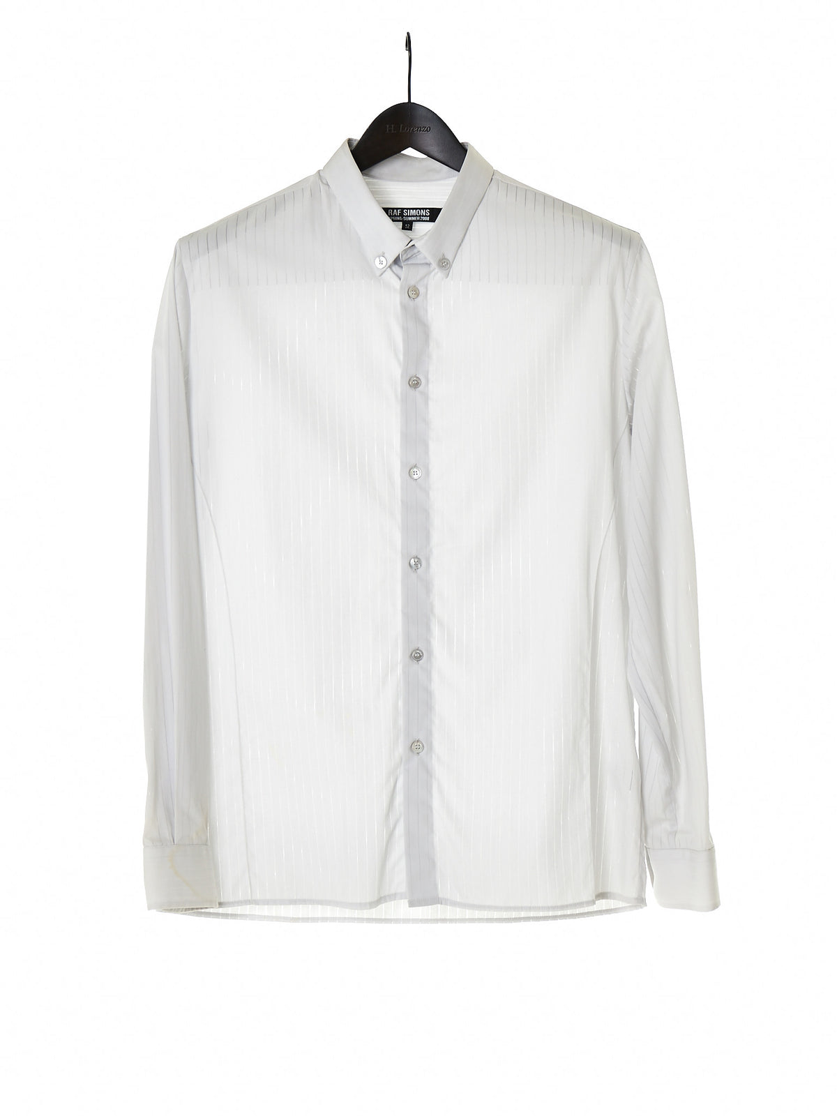 Striped Button-Down Shirt (RS0214-124A-GREY) - H. Lorenzo