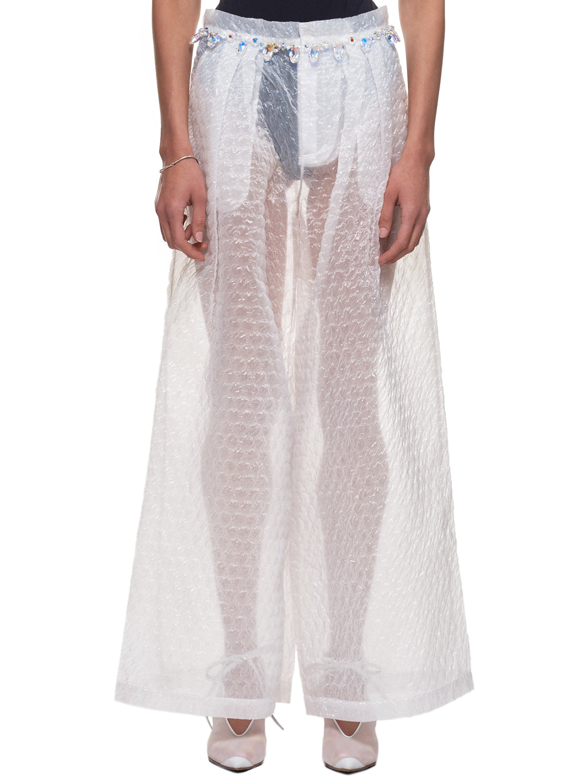 Jeweled Bubble Trousers (030-TRANSPARENT)