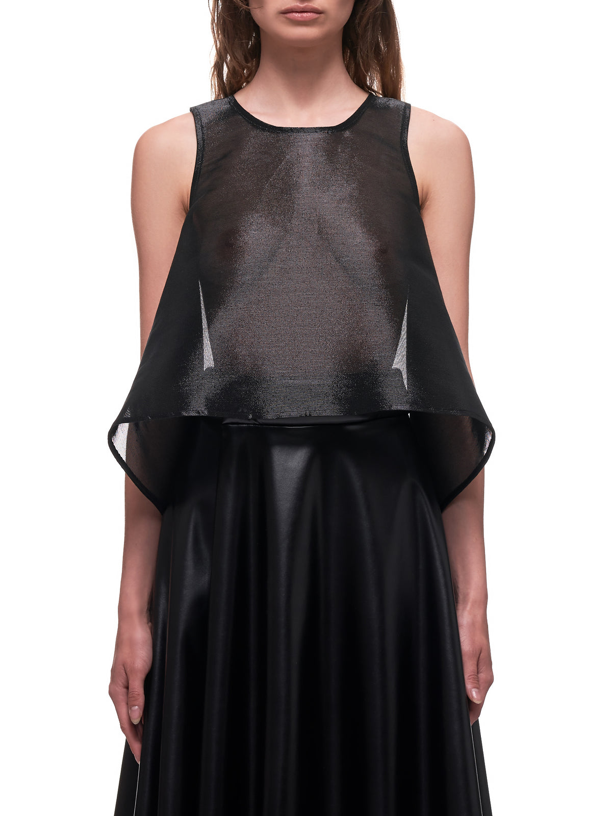 A-Line Transparent Top (18-A-LINE-BLACK-COTTON-NET)