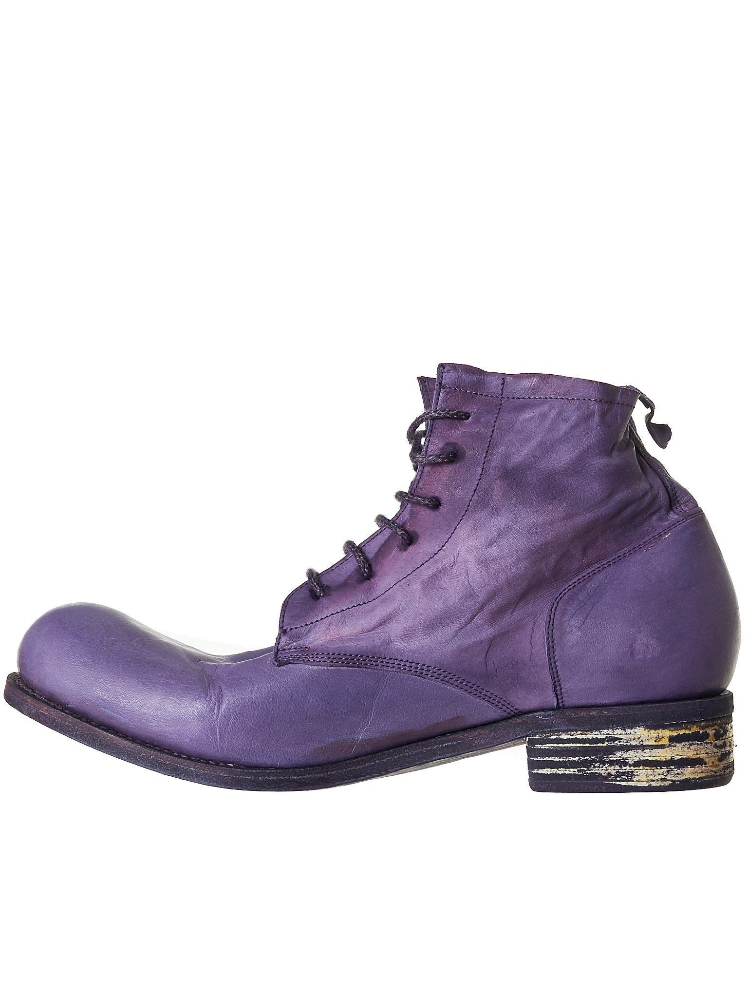 A Diciannoveventitre Kangaroo Leather Boot - Hlorenzo Back