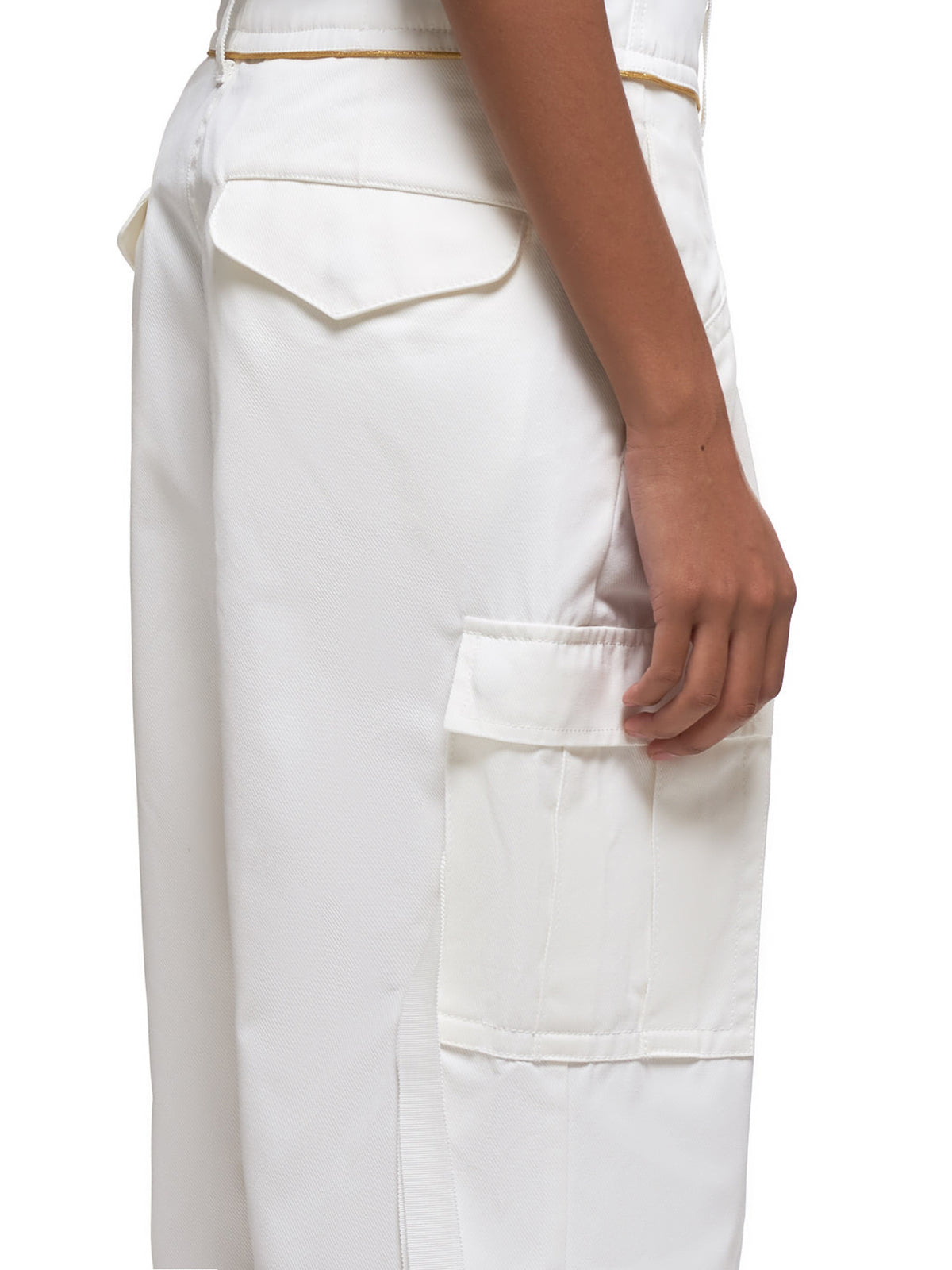 Cropped Trousers (04855-101-WHITE)