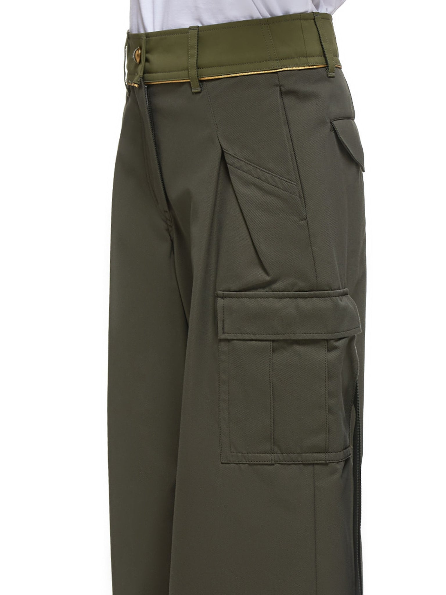 Cropped Trousers (04855-501-KHAKI)