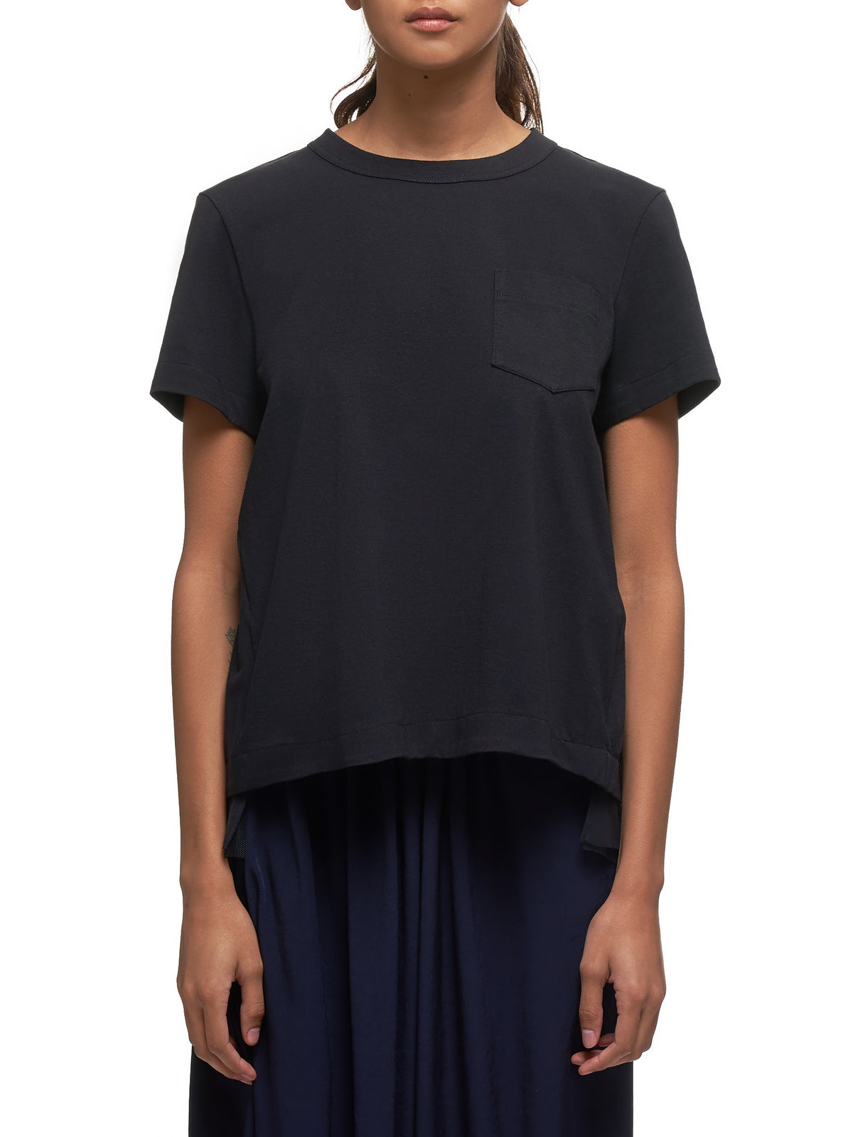 Cut-Out T-Shirt (04881-1-BLACK)