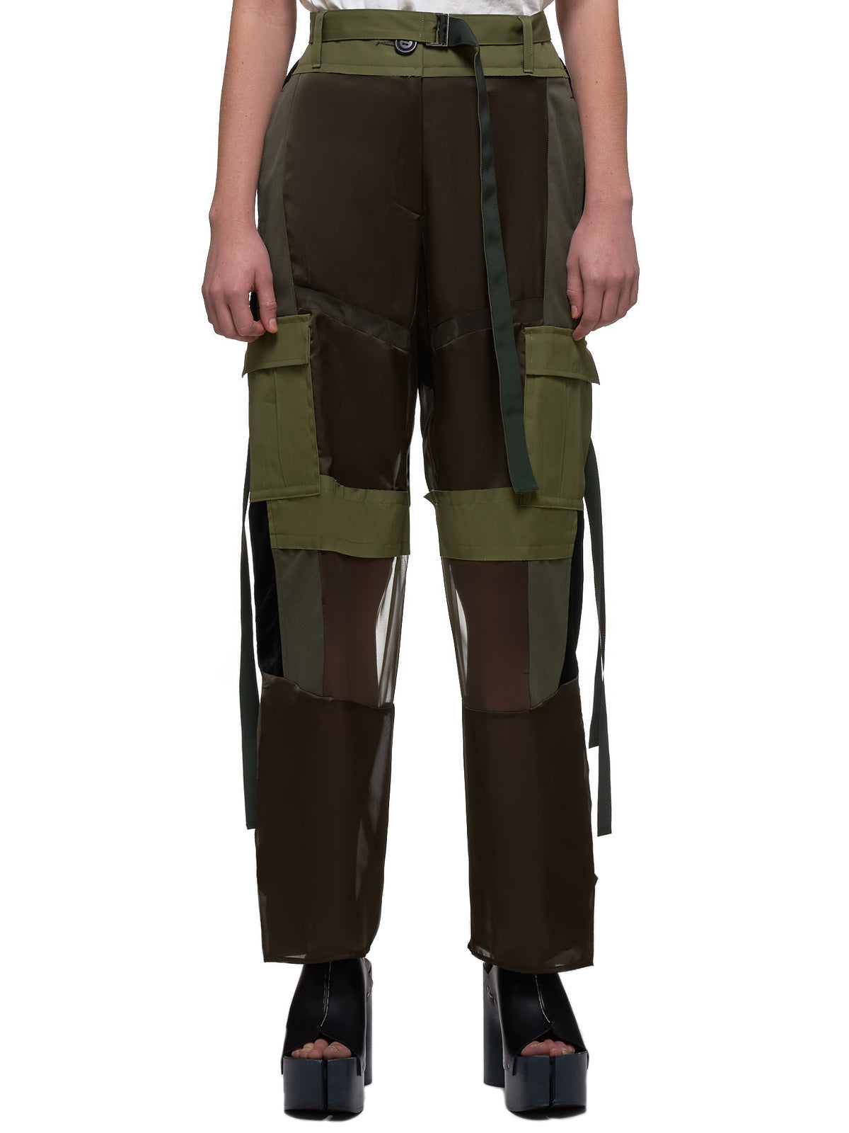 Patchwork Trousers (04902-501-KHAKI)