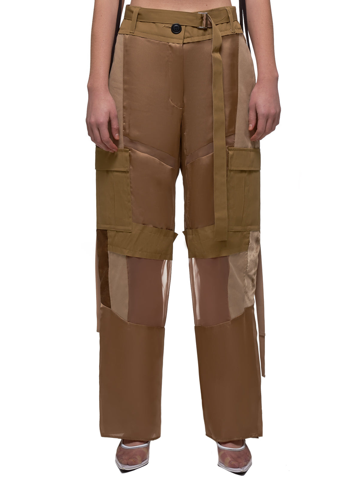 Patchwork Trousers (04902-651-BEIGE)