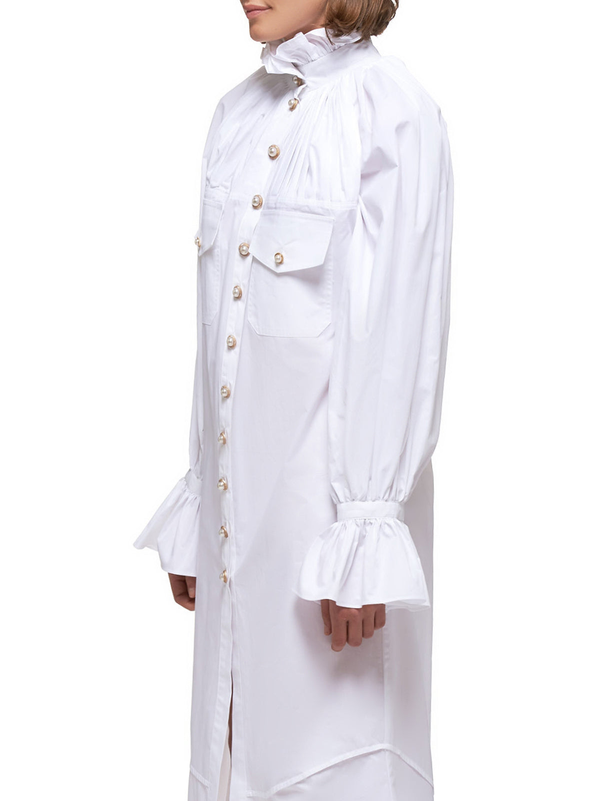 Ivory Shirt Dress (05-03-ROUMAINE-WHITE)