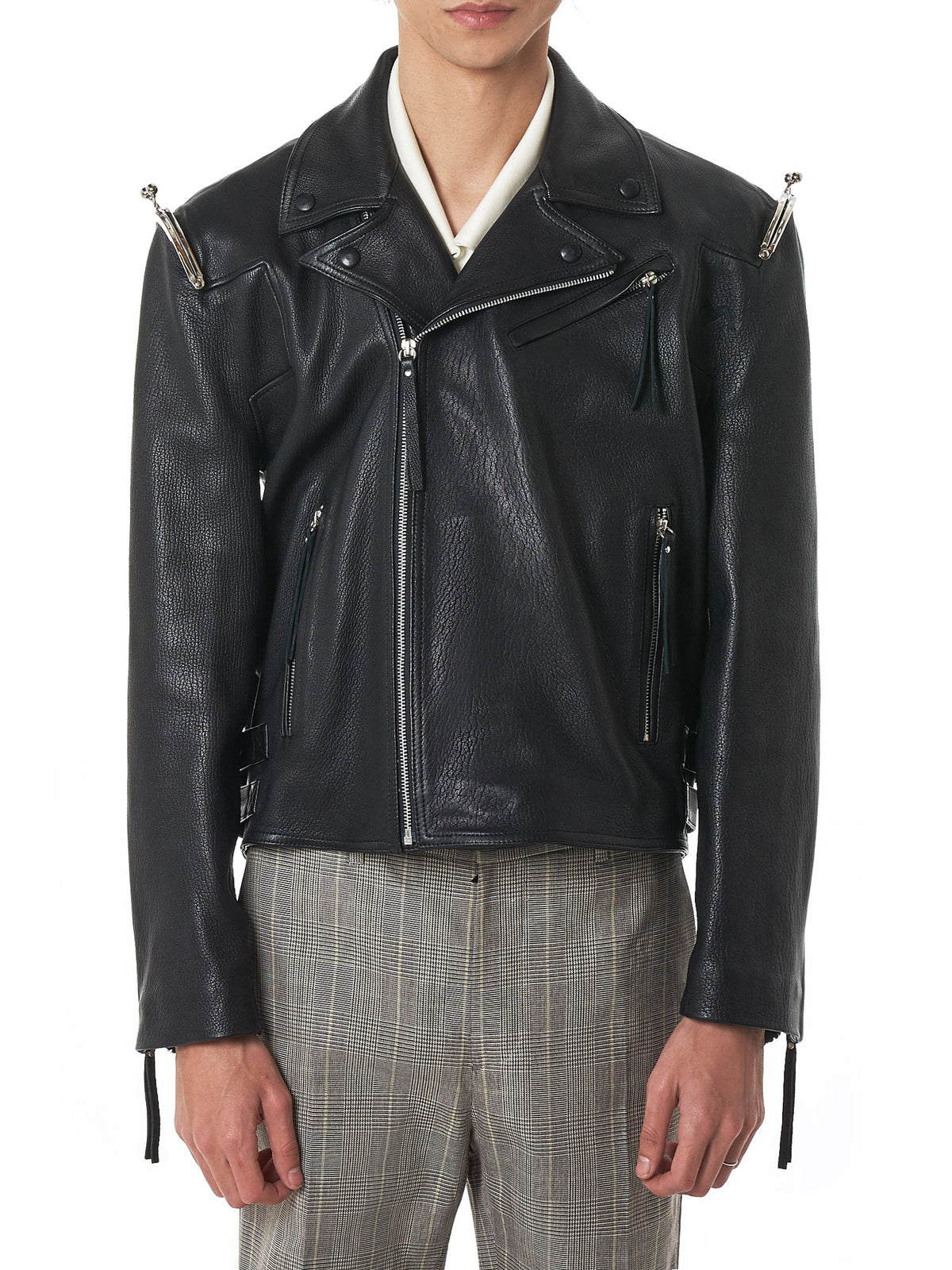 Sanchez-Kane Leather Jacket - Hlorenzo Front