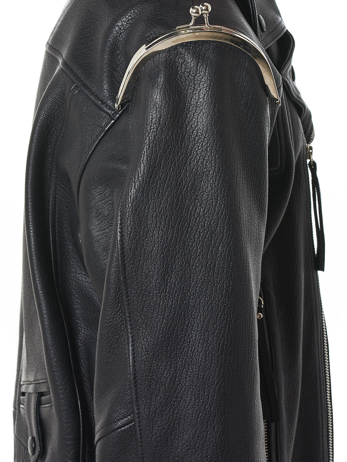 Sanchez-Kane Leather Jacket - Hlorenzo Detail 2