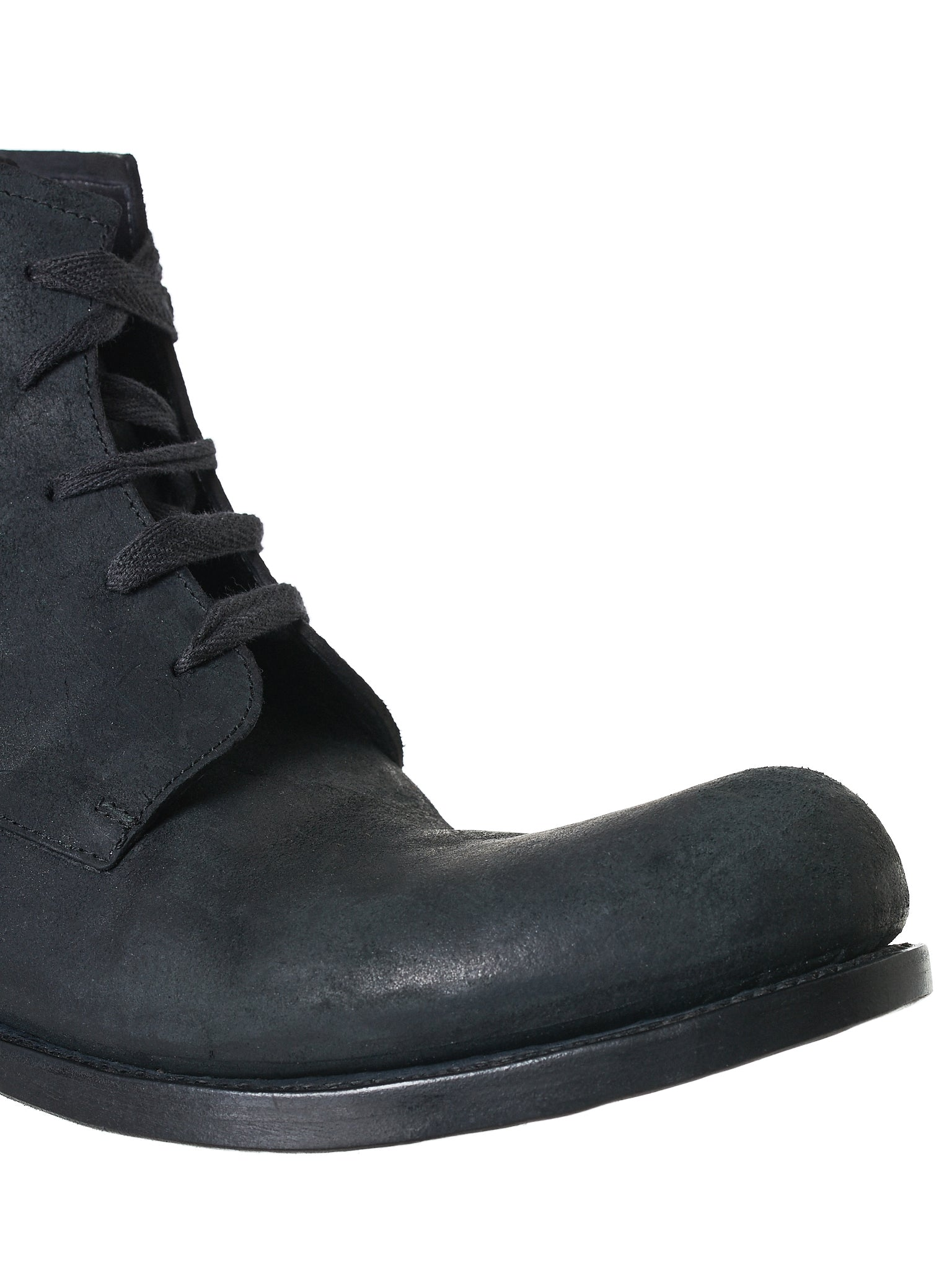 Reverse Horse Leather Boot (06-HORSE-REVERSE-BLACK)