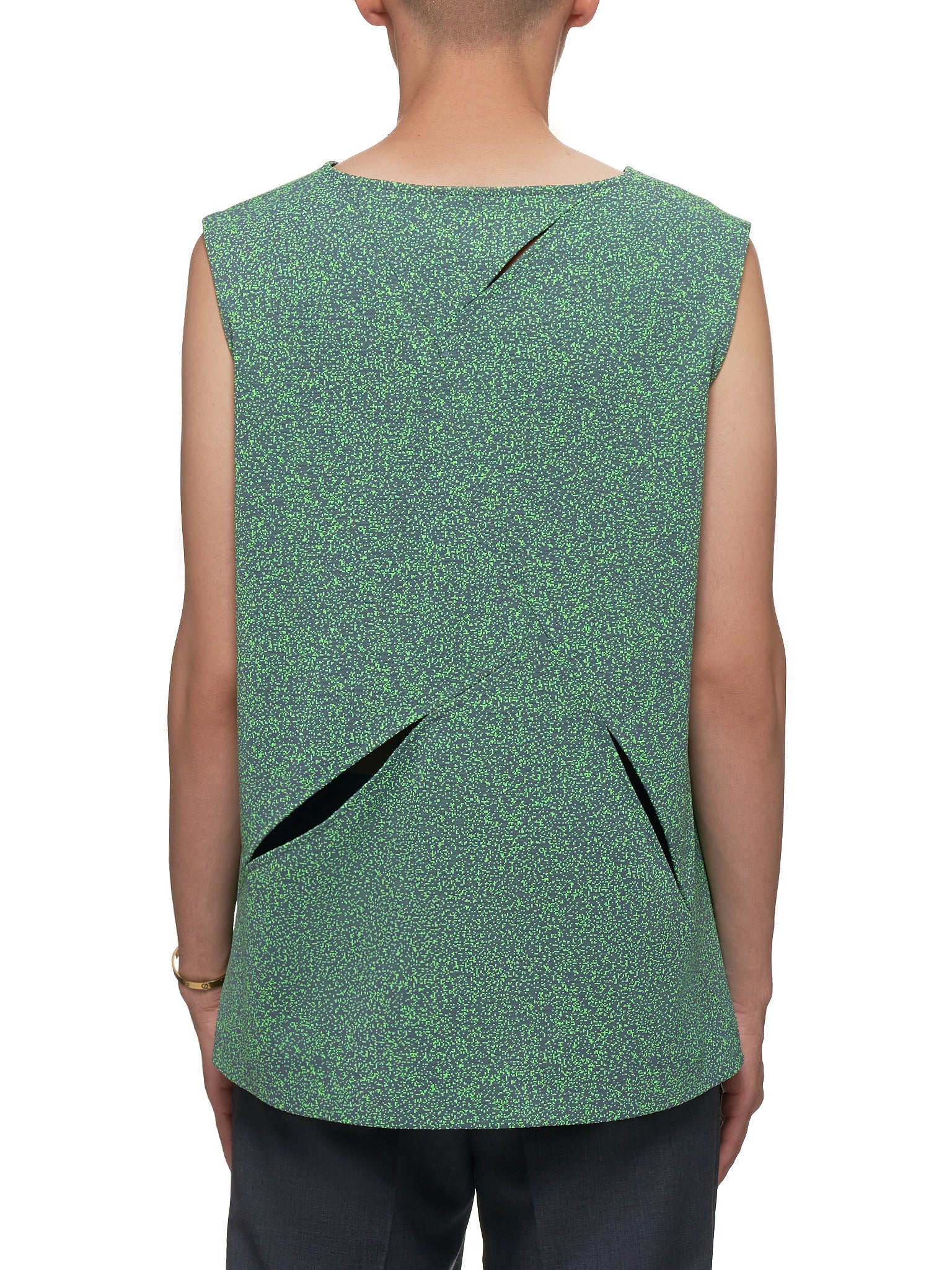 Tasebar Vest (0601-N5001-GREY-GREEN)