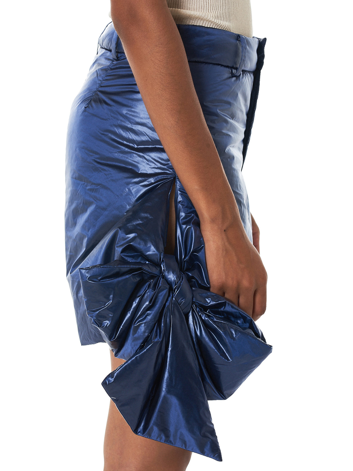 Bowed Metallic Shorts (067-A-PA04-NAVY)