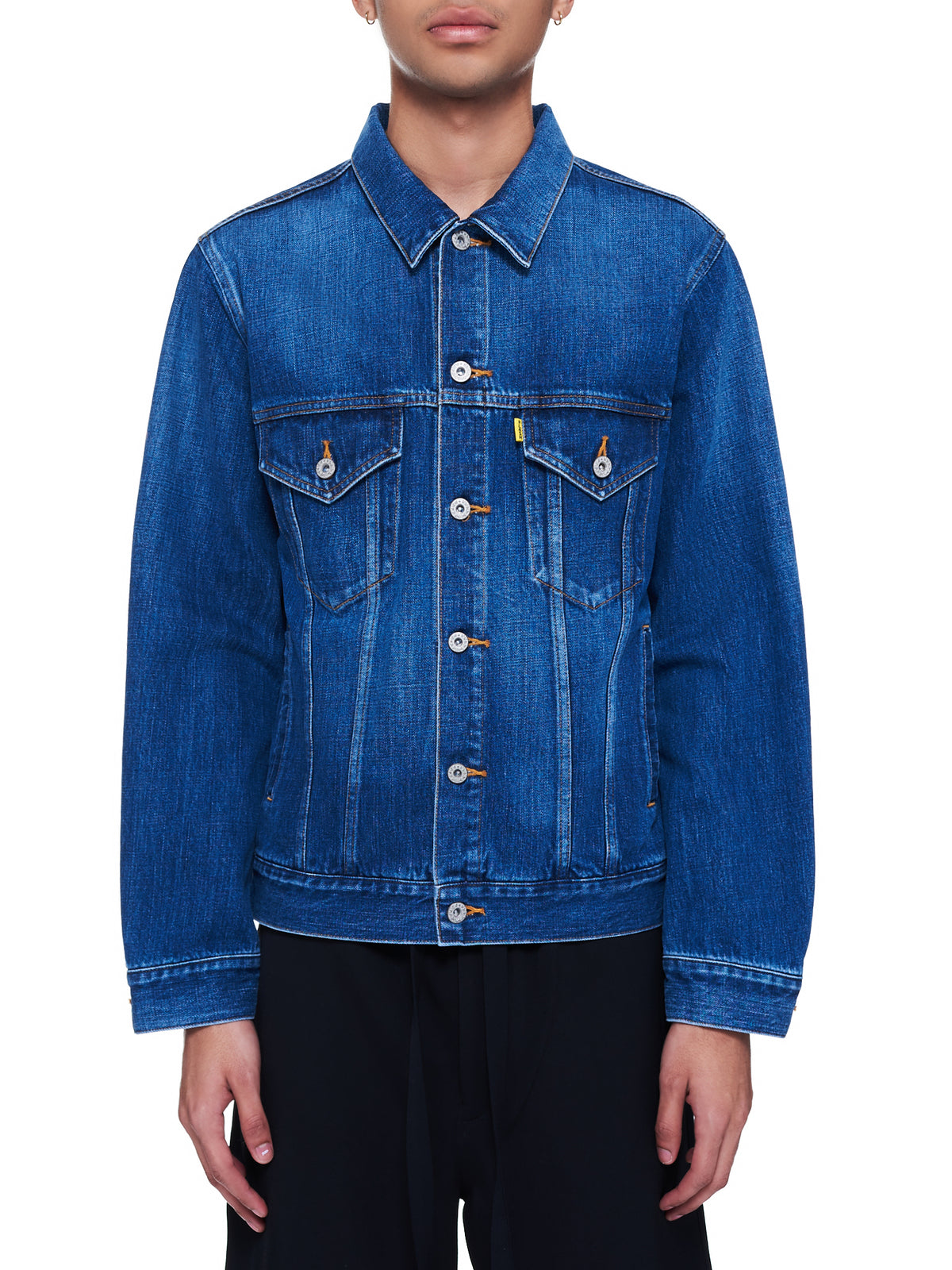 Memorial Polaroid Denim Jacket (06BL115-INDIGO)