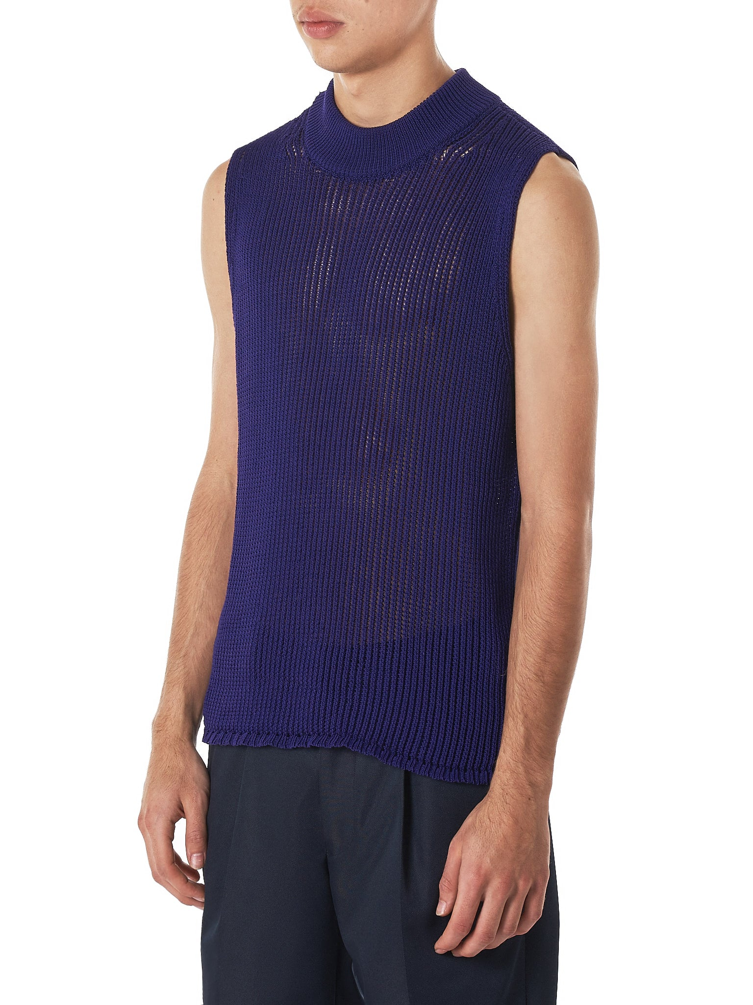Namacheko Purple Knit Vest - Hlorenzo Side