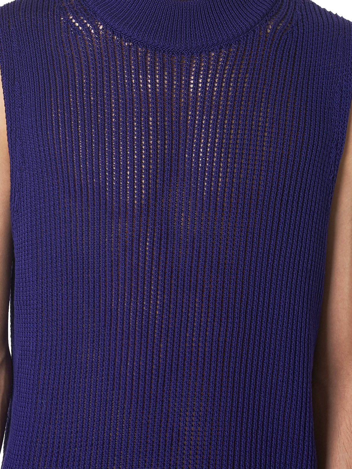 Namacheko Purple Knit Vest - Hlorenzo detail 2